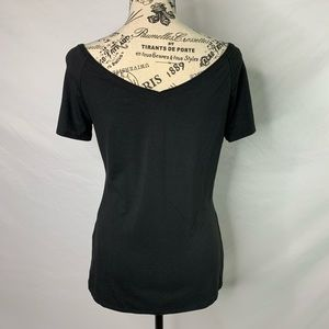 White House Black Market Tops - NWOT WHBM ruched at-the-shoulder top